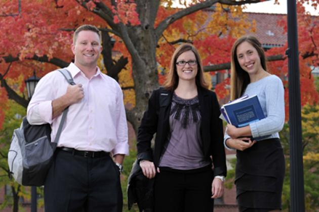Accelerated Degree Completion Students - Outside in Fall